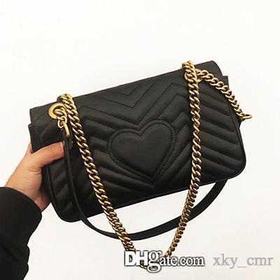 new fashion Marmont shoulder bags women luxury cowhide leather chain crossbody bag handbags famous designer purse high quality female bag