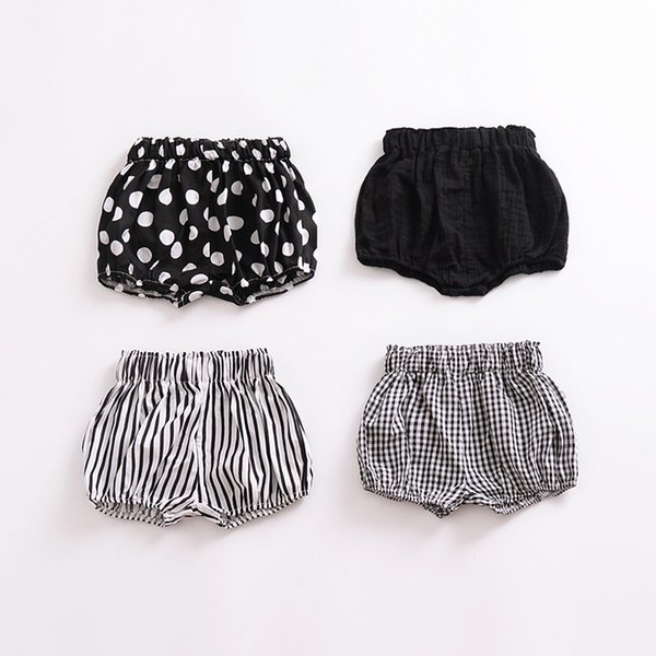 INS NEW arrival baby short Hot selling summer Girls candy color all-match stripped polka dots 100%cotton shorts 8 colors free shipping B11