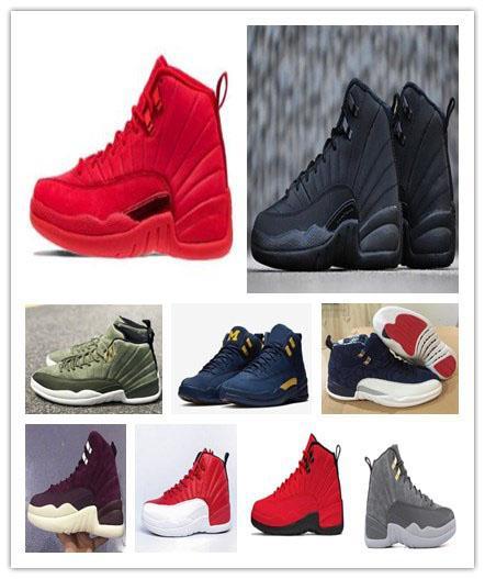 12 calçados de basquete Winterized Men International Flight XII 12s Graduação Pack CLASSE DE 2003 Portos de Michigan Sneaker shippment grátis Com Box