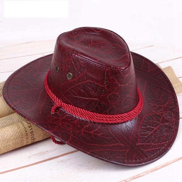 Moda aba larga Chapéus Homens Mulheres Viagem dom Shading Cap Causal Verão ocidental do vaqueiro Impressão respirável Hat TTA1415-14