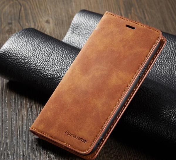 Hotselling original forweng carteira case bumper de couro com slot para cartão flip tampa do ímã para iphone samsung huawei