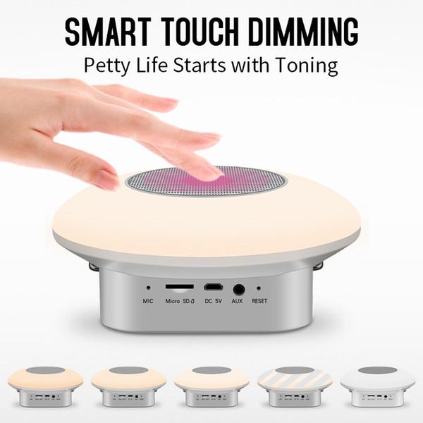 M7 portátil bluetooth luz led speaker com design de parede luz da noite sos função smart soundbox soundbox botão de toque ao ar livre altifalante
