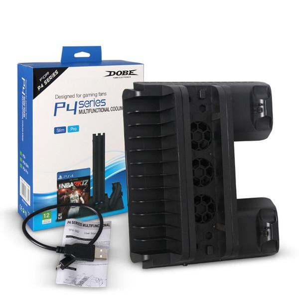 PS4 SLIM PRO All-in-one de carregamento Suporte Base de Handle Carregador de refrigeração Titular fã disco para Playstation 4 Magro Pro Games