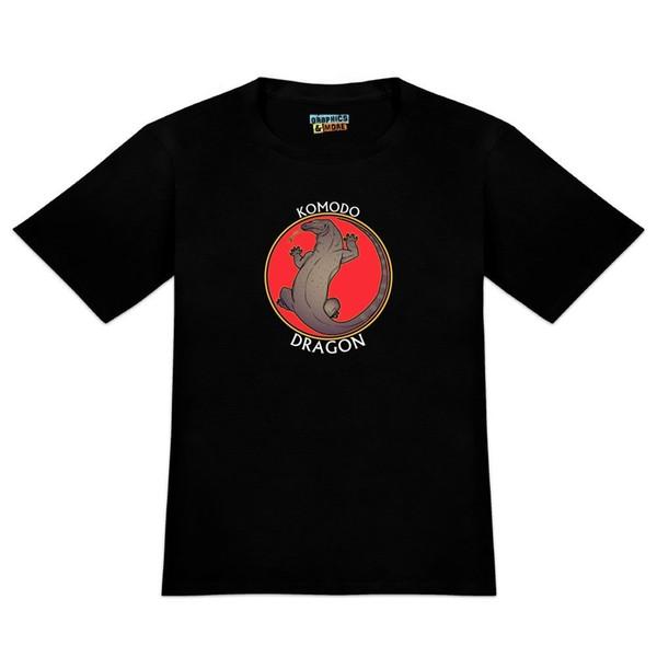 T-shirt de fantaisie Komodo Dragon pour homme blanc, noir, gris, pantalon rouge, pantalon