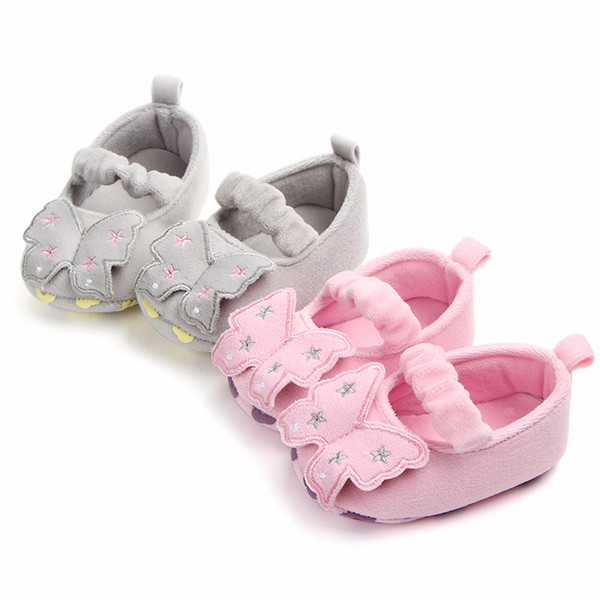classic style innovative design discount sale Kid Girls Boy Soft Spring Autumn Plush New Bow Baby Walking ...