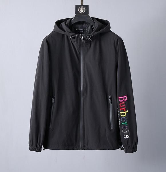 Erkekler için bur ceket ceketler mont yeni ürün moda rahat ince klasik ceket üst Mektup nakış
