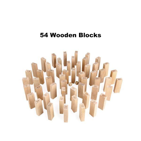 Jeu de Jenga classique Timber Tower Wood Block Stacking Games Casse-tête familial Jouer à Building Block Toy Drôle pour les enfants