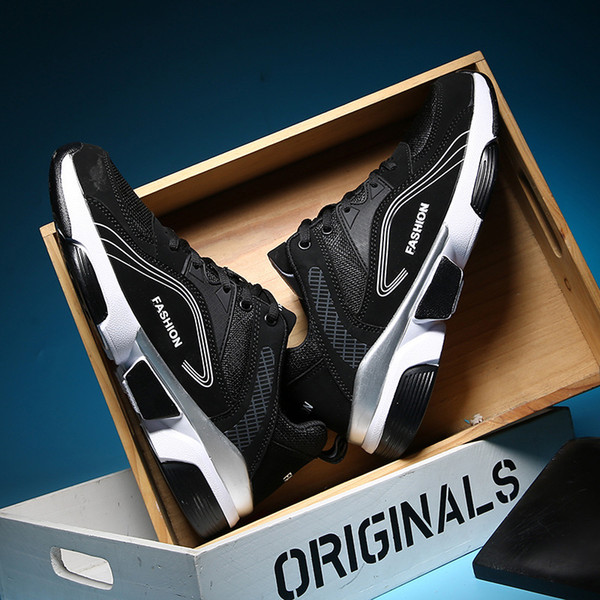 Cross-border large-size men's shoes new spring and autumn net cloth teenagers leisure sports shoes ins super-hot shoes manufacturer direct s