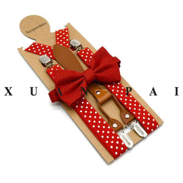 High Elastic BOW knot Men Unisex toddler Wedding Matching Braces Suspenders Luxury Bow Tie Set Accesorios de vestir JLE198
