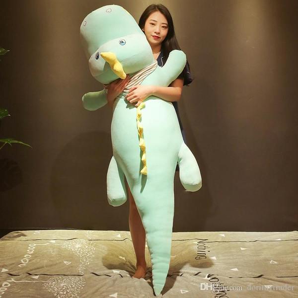 Dorimytrader kawaii крокодил плюшевые игрушки кукла гигантское животное аллигатор спальная подушка кровать подушка девушка милый подарок на день рождения 150см DY50545