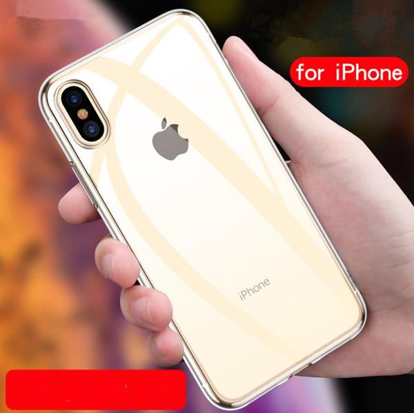 Effacer les cas mous de couverture antichoc de caisse de téléphone portable de TPU pour XS Max XR iPhone8 7 Plus x148