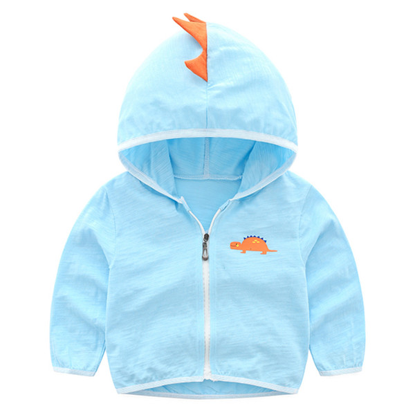 Children Jacket Sun Protection Clothing Boys Girls Summer Cotton Hooded Coat Ultra Thin Cardigan Outerwear