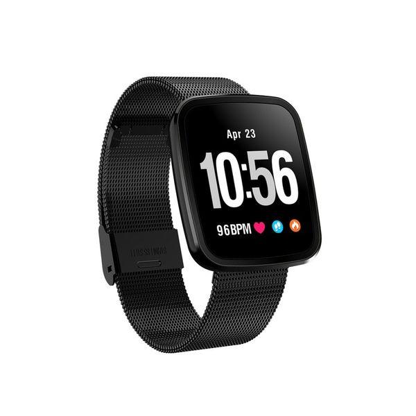V6 Color Screen Metal Smart Wristband Heart Rate Blood Pressure Waterproof Fitness Tracker Bluetooth Smart Bracelet