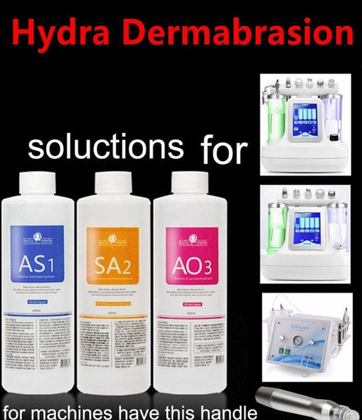 A 1 a2 ao3 aqua peeling olution 400ml per bottle aqua facial erum hydra dermabra ion facial clean ing for normal kin