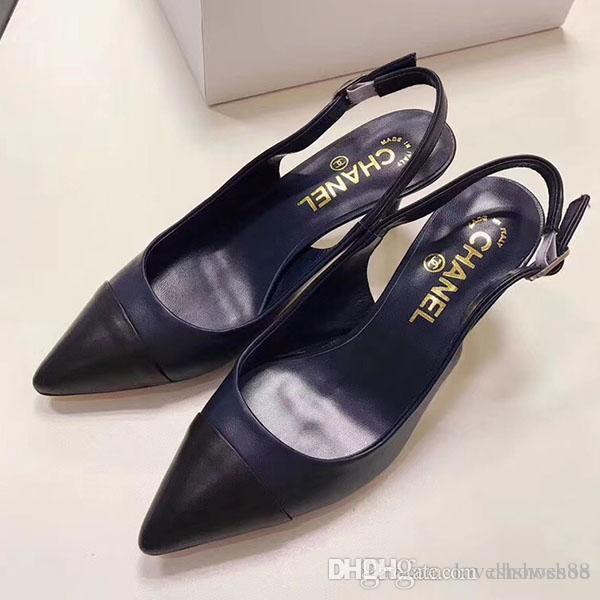 luxoSenhoras de designer sapatos 2020 marca de moda mulheres Luxo clássicos sapatos moda feminina verão saltos altos sandálias com vestido Mulheres sapato