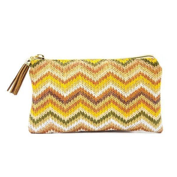 Tassel Beach Bag Hot selling card holder pop up making machine minimalist slim wallet Tassel Stripe Wave Beach Bag
