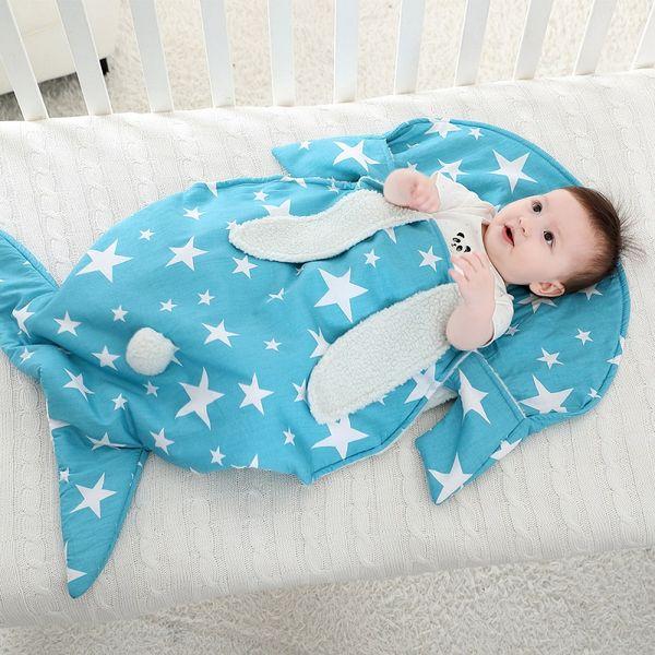 Newborn Baby Sleeping Bag Plus Velvet Thick Knit Warm Rabbit Sleeping Bag Infant Baby Gown Soft Sleeper 48