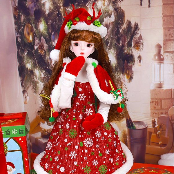 Dearm Fairy Clothes for 1/3 BJD Doll 62cm Christmas set with delicate headwear high quality Free Shipping ICY,SD