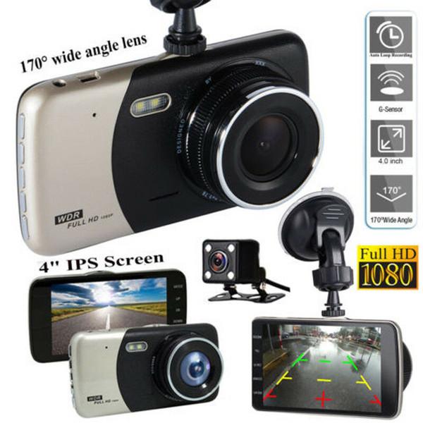 4.0 inches Dual lens Car DVR Camera HD 1080P Auto Dash Cam Front Rear Recorder