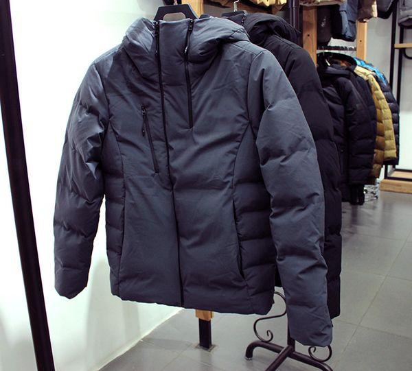 2019 New Winter Men's Keep Warm North Down Jacket Thicken White Duck Face Coat Wind Sleeve 0280