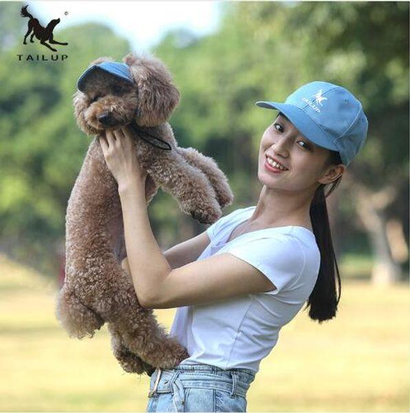 TAILUP chien chapeaux S-XL parent-enfant chapeau ensemble printemps été style mignon animal de compagnie chapeau de plein air chien casquette de baseball accessoires pour petits chiens de taille moyenne