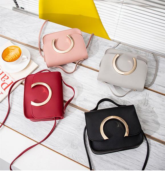 Wholesale Totes Small Bags Korea Fresh New Female Mini Leisure Small Square Handbag Lading Shoulder Cross Arm Mobile Phone Bags