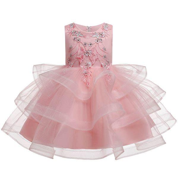 Цветочница платья для свадьбы принцесса платья для детей театрализованные платья балетная пачка детская одежда детская дизайнерская одежда платье для девочек в розницу A7617