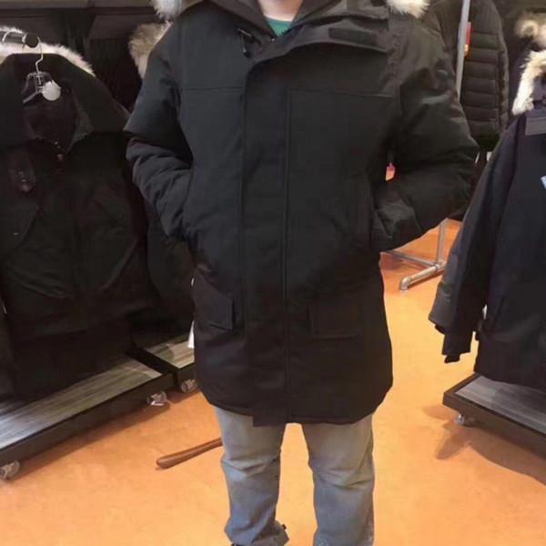 Chaqueta de invierno para hombres Chaqueta de abajo para hombre Lobo real Piel Collar Wrap Puf Duvet Hoodies Anorak