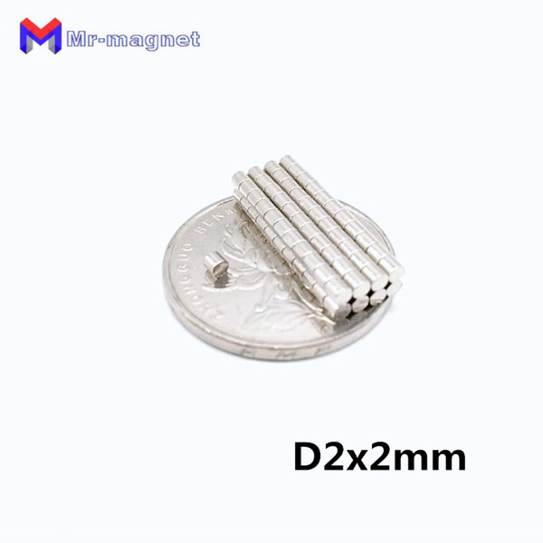 2019 imanes Refrigerator Magnets 200pcs N50 Grade Small Mini Disc Super Strong Magnet Powerful Round Rare Earth Neodymium magnet 2*2 2x2 mm