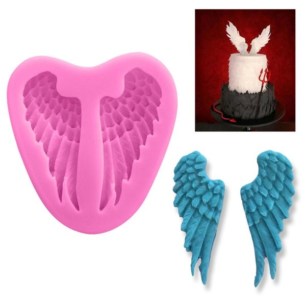 Pastry Tools 1PC Silicone Mold Angel Wings Shape Fondant Chocolate Soap Mold Cake Stencils Bread Moulds Kitchen Baking Pan