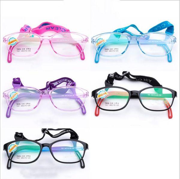 Miúdos de Silicone Óculos de Armação de Moda Cabo Elástico Crianças Eyewear Quadro Com Cabeça Banda Cabo de Doces Cor Óculos de Motorista Eyewear LT1275