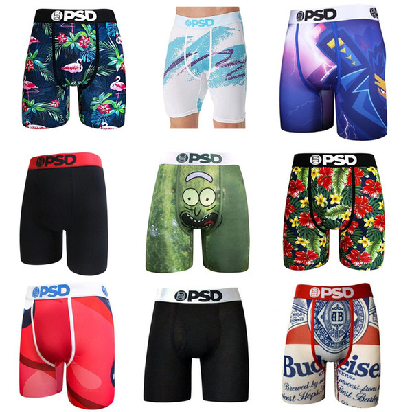 top popular Random styles PSD underwear Men unisex boxers breif pattern sports hip hop rock excise underwear skateboard street fashion streched S-2XL 2021
