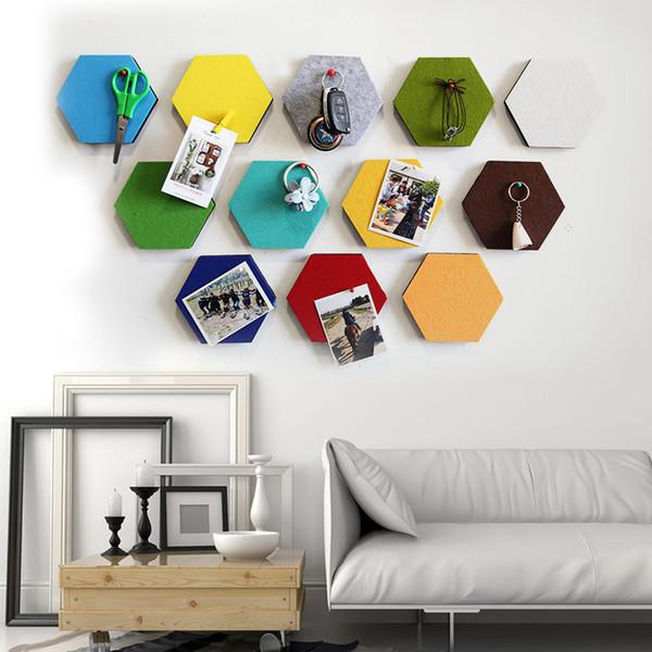 Personalizzato feltro di colore autoadesivo adesivi murali Forum decorativo bagagli Round Square Esagono personalizzare qualsiasi Pattern e Forma 1-5mm