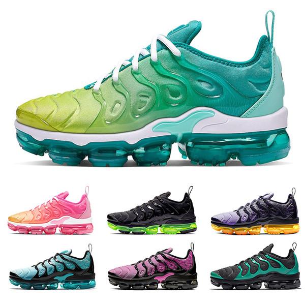 Nike Air VaporMax Marka Koşma Ayakkabı Siyah Volt Turuncu Açık Gri Artı Erkek kadın Koşu Ayakkabıları Aktif Fuşya Midnight Donanma Eagles Erkek Volt spor sneakers