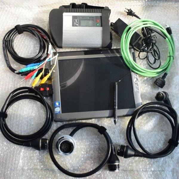 mb star c4 ssd xentry with le1700 laptop ram 4g full set diagnostic tool multiplexer with cable ready to use 2 years warrant