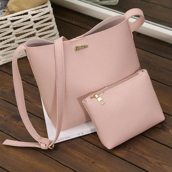 Handbags Woman PU Leather Large Capacity Female Shoulder Bags Solid Color Practical Women Corssbody Bag Set