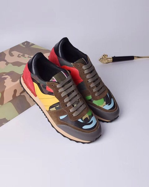 Designer de luxo Da Marca Dos Homens Das Mulheres Sapatos De Couro Bordado de Alta Corte Sapatos Casuais Ao Ar Livre Unisex Zapatillas Tatto Sapatos de Caminhada hy18052202