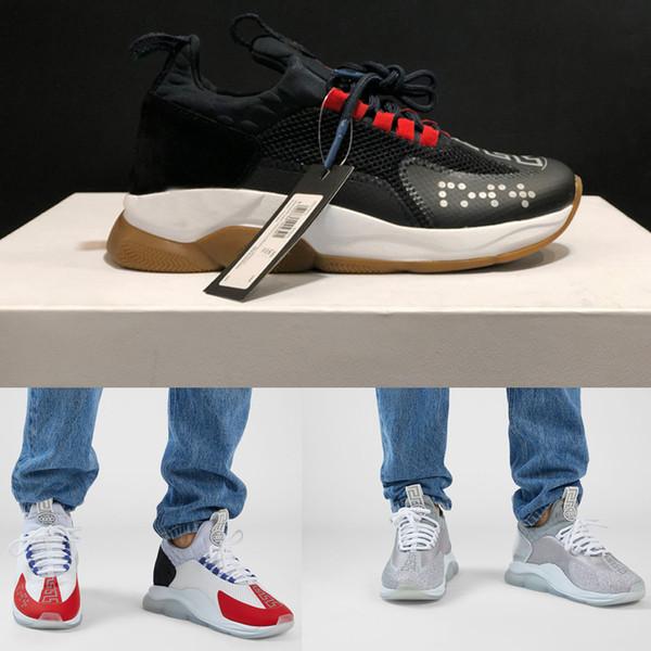 2019 дешевые Cross Chainer Chain Reaction кроссовки открытый дизайнер кроссовки женщины мужчины оригинальный бренд nbspversace размер 36-45