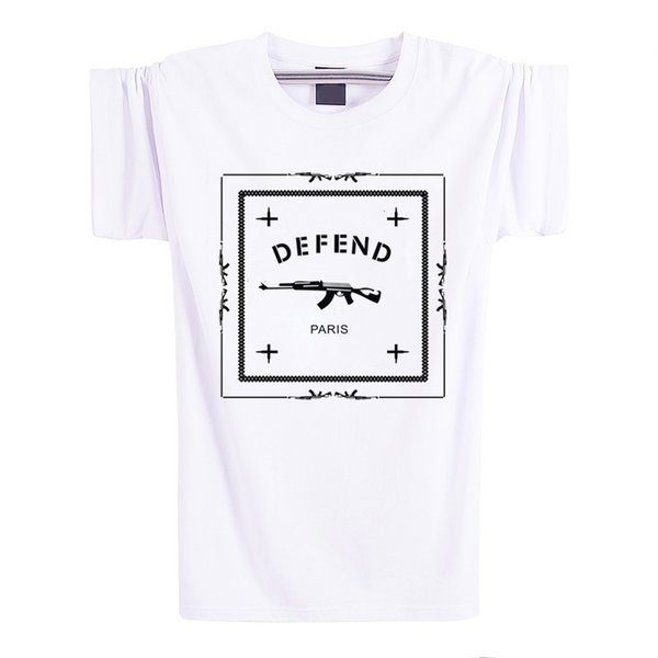 b3d04de8cfe Letters Defend Paris Cotton Short Sleeve Men T Shirt Luxury Brand White  Tshirt Loose Funny T Shirt Logo In Tops And Tees Cool T Shirts Online Funny  T ...
