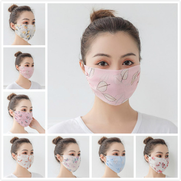 best selling Summer Women Scarf Face Mask 27 Styles Silk Chiffon Handkerchief Outdoor Windproof Half Face Dust-proof Sunshade Masks Anti-UV Face Shield