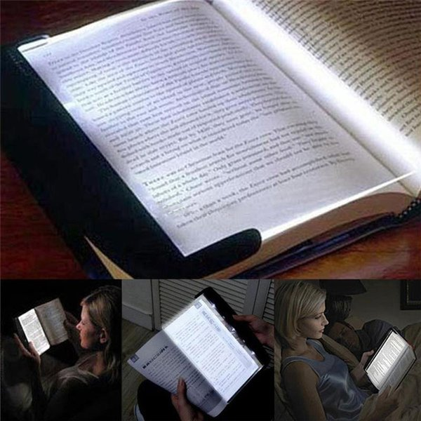 Magic Night Vision Light LED Reading Book light Flat Plate Portable Car Travel Panel lamp with retail box for Student gifts