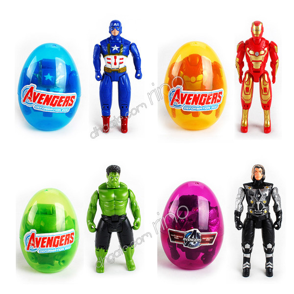 The Avenger Building blocks Sorpresa Twist Eggs Boys Marvel Bambini Giocattoli Action Figures Capitan America Iron Man Hulk Mattoni Minifigures Regali
