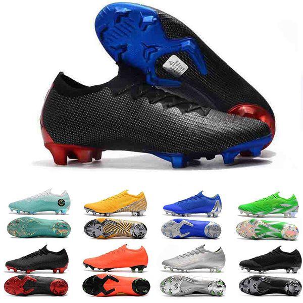 Mercurial Superfly Low Triple Negro Azul Rojo Zapatos de fútbol Mujeres Hombres Entrenadores Botas de fútbol Botines Diseñador Hombres zapatillas de deporte Tamaño 37-45