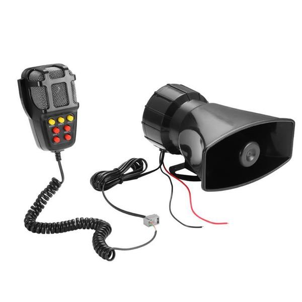 Auto Alarm Lautsprecher Halter Ton Ton Auto Aufnahme Notfall 7 Sirene ertönt Horn Mic PA-Lautsprechersystem Hooter