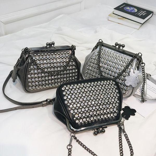 LYKANEFU заклепки сумка для женщин сумки на ремне дизайнер сумочка цепи кошелек дамы крест сумки панк-стиль Bolsa Feminina #112882