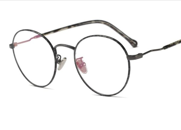 European and American new metal round frame retro art Van Ping mirror can be equipped with mirror myopia frame