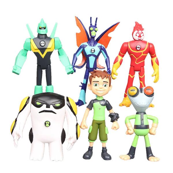 [TOP] 6 teile / los 10 CM Ben 10 Beschützer der Erde Familie Action-figuren PVC modell puppe Brinquedos Spielzeug kinder beste geschenk