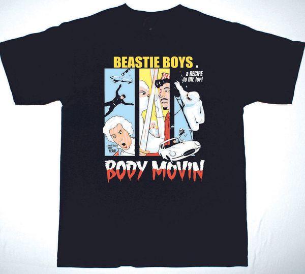 BEASTIE BOYS BODY MOVIN CAMISETA NEGRA