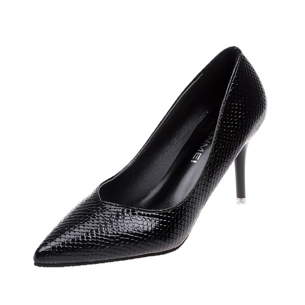 Designer Dress Shoes 2019 new pointed high heels Korean fashion black women's single wild casual work