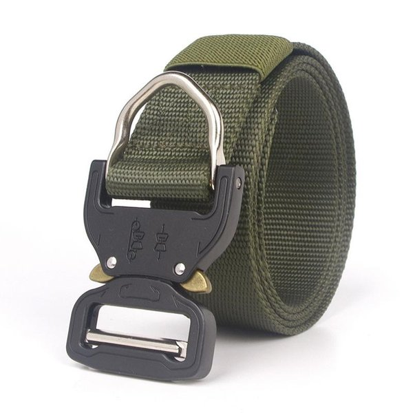 Military Equipment Combat Tactical Belts For Men US Army Training Nylon Metal Buckle Waist Belt Outdoor Hunting Waistband #40276